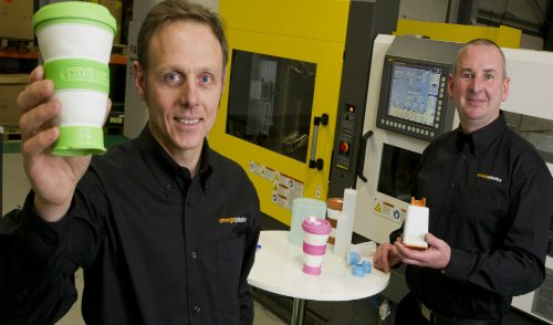 Rob Gray and Gary Powner, managing directors at Omega Plastics with the pokito.