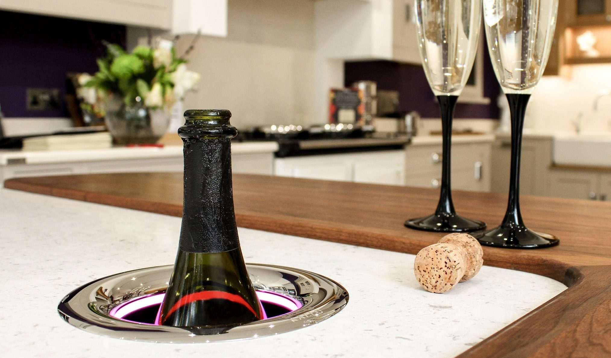 Kaelo wine cooler in a kitchen