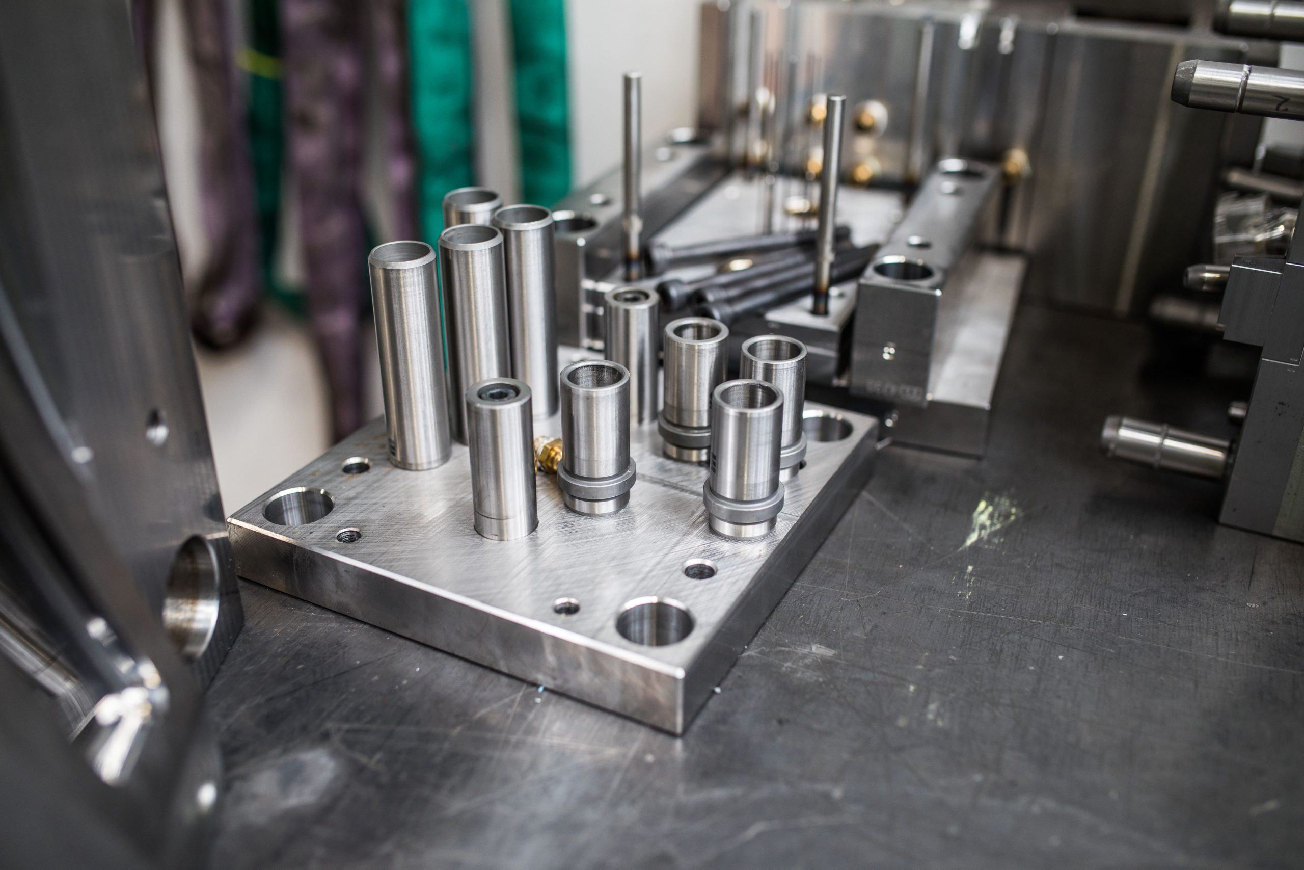Close up of tool parts