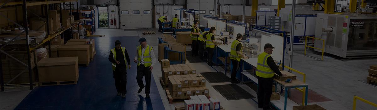 Arial shot of the shop floor at Signal Plastics
