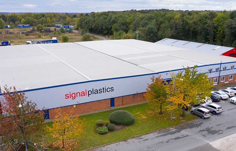 Arial shot of the outside of Signal Plastics